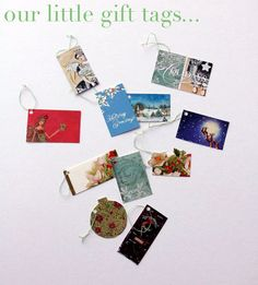 Recycling Christmas Cards into gift tags