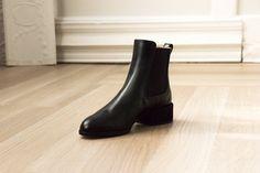 c932ee2485f Designer luxury Italian made timeless classic chelsea black ankle booties,  GEM boots, Dear Frances – dearfrances.com