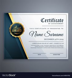 The captivating Modern Premium Certificate Award Design Template In Award Certificate Design Template digital photography below, is segment of Award … Award Template, Certificate Design Template, Email Templates, Baby Dedication Certificate, Certificate Programs, Certificate Of Appreciation, Certificate Of Achievement, Printable Certificates, Award Certificates