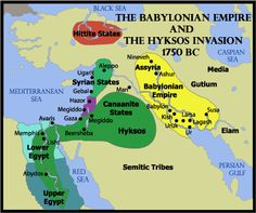 Hyksos actually started in the Baltics and Asia conquering Mesopotamia, down to Egypt, the pushed to Judea from the native Theban Egyptians led by Amose I. Ancient Mesopotamia, Ancient Egypt, Ptolemaic Dynasty, Semitic Languages, Hellenistic Period, The Time Machine, Susa, Egyptians, Historical Maps