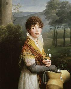 Gioacchino Serangeli (1768 - 1852) Portrait of a young Woman