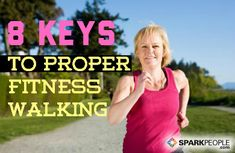 Are you #walking with ideal form for safety and optimal calorie burning? Find out here! | via @SparkPeople #walk #fitness
