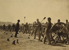 Artillerymen of New York's First Artillery lined up before their cannons during the Battle of Chancellorsville in Virginia on May Battle Of Cold Harbor, Battle Of Chancellorsville, New York One, Civil War Photos, Military Veterans, American Civil War, Cool Photos, Amazing Photos, Cannon