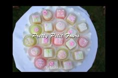 How to Make Petit Fours! - A Cake Video Tutorial Petit Four Glaze Recipe, Petit Four Icing, Poured Fondant, Rainbow Cake Pops, Baby Shower Tea, Baby Showers, Petit Cake, Cake Decorating For Beginners, Holiday Snacks