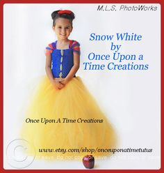 Snow White Inspired Princess Tutu Dress - Birthday Outfit, Photo Prop, Halloween Costume - 12M 2T 3T 4T 5T - Disney Snow White Inspired. $59.99, via Etsy.