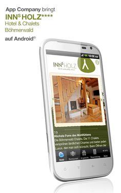 NNs Holz App: App Company Oberösterreich - die Appagentur aus Linz - bringt INNs Holz - Hotel und Charlets im Böhmerwald - auf Android®