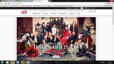 Net als V&D spitst de site van H&M zich meteen op de acties en kortingen. Ook deze afbeelding is te groot.