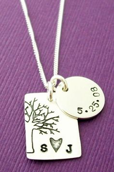Personalized Jewelry in Sterling Silver  by EclecticWendyDesigns, $47.00- lots of cute personalized jewelry