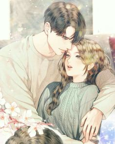 Anime Couples Anime love bird – Animefang - Visit the post for more. Couple Amour Anime, Couple Anime Manga, Anime Cupples, Romantic Anime Couples, Anime Couples Drawings, Anime Love Couple, Anime Couples Manga, Cute Anime Couples, Sweet Couples