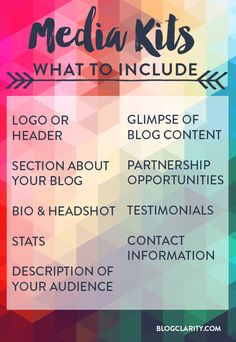 Blogger Media Kits 101: What's a Media Kit, Why You Need One, and What to Include