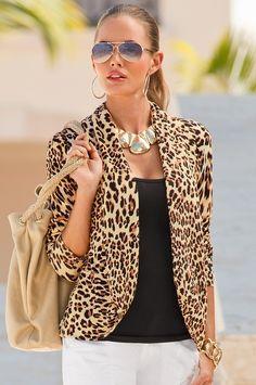 Leopard print sweater - Boston Proper Leopard Blazer c7f185685