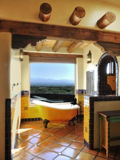 The cultural aspects of a Spanish-inspired home interior make it a popular choice among Americans. Whether you love a Southwestern or Old World Spanish look, these design ideas will help you incorporate Spanish-style flair into your home. Spanish Style Decor, Spanish Style Homes, Spanish House, Spanish Revival, Spanish Colonial, Spanish Bathroom, Spanish Style Bathrooms, Spanish Tile, Style At Home