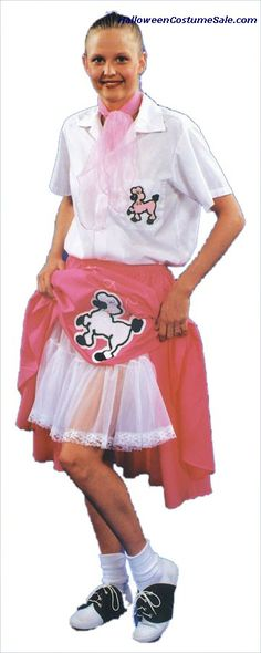 PINK LADY ADULT COSTUME Poodle Skirt