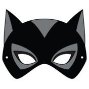 Catwoman Mask Template from Cartoon Character Masks