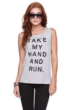 Afends Take My Hand N Run Muscle Tee