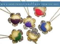 Win A Hand-Painted Necklace from Vivi Dot!