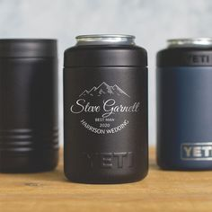 Personalized Engraved YETI® Colster or Polar Camel Can Groomsmen Gift Best Man Bridesmaid Gift Wedding Party Favor Asking Groomsmen, Groomsmen Gift Box, Be My Groomsman, Groomsmen Proposal, Groomsman Gifts, Cigar Gifts, Outdoor Gifts, Hunting Gifts, Gifts For Wedding Party