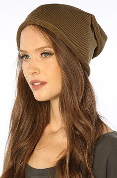The Oversize Core Beanie in Army by Alternative Apparel