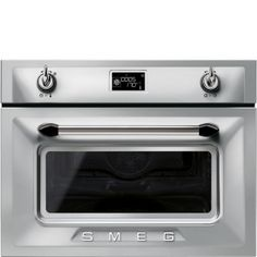 Smeg SF4920MCX Enamel Interior Compact Microwave Combination Oven