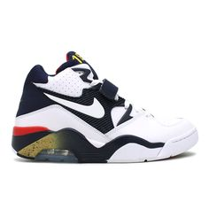 sports shoes 3a86d 165a2 NIKE AIR FORCE 180 (WHITEWHITE-MID NAVY-MTLLC GLD)