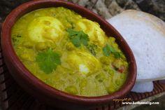 Egg – Green peas masala