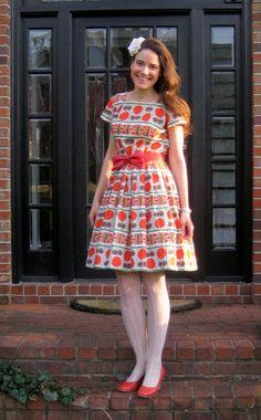 vintage dress with crinoline