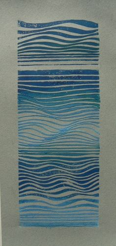 "Waves : Striped Pebble, linocuts, drawings, paintings and other lovely things "" Ripples and flows. Wave Drawing, Wave Art, A Level Art, Surf Art, Wave Pattern, Ocean Art, Linocut Prints, Art Inspo, Art Lessons"