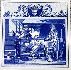 Delft Blue | ... Ceramic-Tile-The-Pharmacists-Laboratory-Apothecary-Holland-Delft-Blue