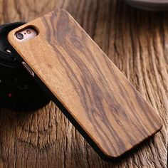 FLOVEME for iPhone SE 5S Natural Wood Hard Back Protective Case for Apple iPhone 5S SE 5 Shockproof Cover Bamboo Walnut Wood