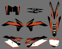 GRAPHICS WITH MATCHING BACKGROUNDS Sticker For KTM 125 150 200 250 300 350 450 500 SX XC SXF SX-F XCF XC-F XCW XC-W EXC XCF-W #Affiliate