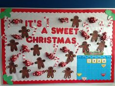 We love this festive holiday bulletin board created by the teachers at McKinley Early Childhood Center! Aren't the candies super cute?! Candy canes, gingerbread boys/girls, and wrapped candies are...