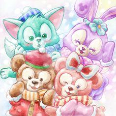 Disney Cartoon Characters, Disney Cartoons, Melody Hello Kitty, Duffy The Disney Bear, Disney Illustration, Tokyo Disney Sea, Pooh Bear, Disney Dream, Disney Channel