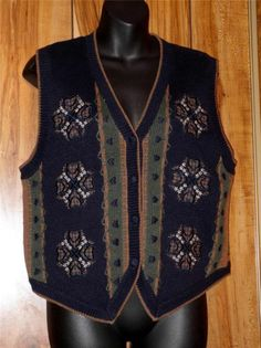 NWT Woman's Christopher & Banks Hand Embroidered Sweater Vest Size Med Hearts #ChristopherBanks