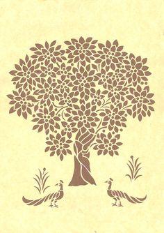 Like Wycinanki Paper Cuts.India also has technique Know as Sanjhi Art. Stencil Patterns, Stencil Designs, Paper Cutting, Paper Cut Design, Art Cart, Paper Art, Paper Crafts, Sharpie Art, Tribal Art