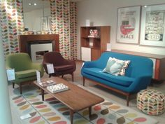 How fun is this MCM living room. I'll take 1 of each item.