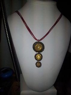 pendants with alpaca and bronze
