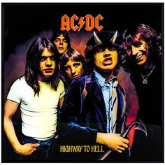 "AC/DC ""Highway to Hell"" Framed Album Cover Wall Art"