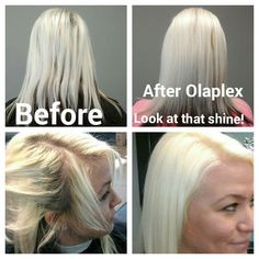 Platinum  hair brought back to life with olaplex