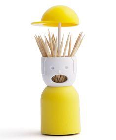 Yellow Picky Boy Toothpick Holder