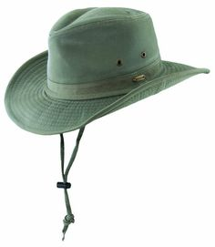 Stetson Twill Outback Hat with Chin Cord (XL 17fb6f9e01fd