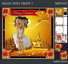 Christmas Magic Holy Night 5 by Isabel Neves Christmas Magic Holy Night -- Mini Kit Includes: Card Front, Mini Print & Fold Card, Card… Christmas Cards, Merry Christmas, Insert Text, Card Printing, Printable Crafts, Card Card, Holy Night, Love Is All, Decoupage