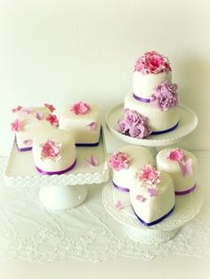 Can't decide on your big day dessert? Serve mini cakes in flavors you're considering and ask guests to vote for their favorite. | Community Post: 30 Swoon-Worthy Engagement Party Ideas