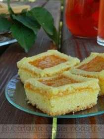 Prajitura cu malai si gem Romanian Desserts, Sweet Tarts, Martha Stewart, Just Desserts, Cheesecake, Food And Drink, Sweets, Cookies, Gem
