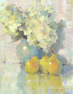 Nancy Franke, Musings on Painting: Keepin it Free Painting Still Life, Still Life Art, Classic Paintings, Beautiful Paintings, Impressionist Paintings, Abstract Flowers, Mellow Yellow, Anime Comics, Oeuvre D'art