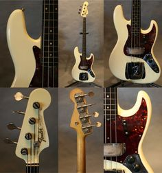 1963 Fender Jazz Bass in OW and matching head.