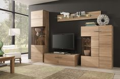 Modern living room wall unit - Best Home Decorating Ideas - How To Design A Room - homehomedecor Living Room Wall Units, Living Room Cabinets, Living Room Modern, Living Room Furniture, Home Furniture, Furniture Removal, Corner Tv Cabinets, Interior Design Examples, Oak Bedroom