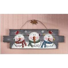Live, Love, Laugh Snowmen Sign #snowman