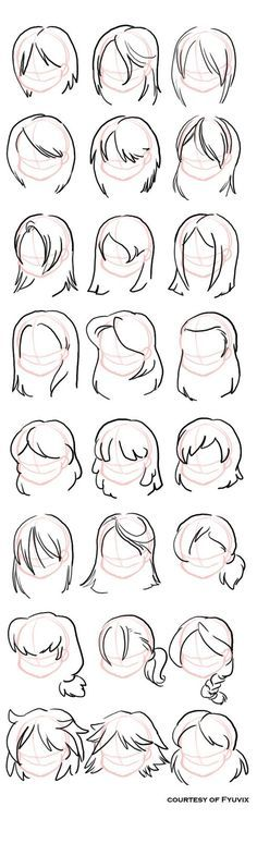 How to draw Hairstyles- by Kharis