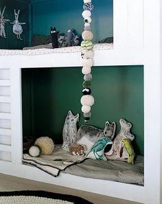 built-in-beds-for-kids bedstee stapelbed bunk bed hoogslaper babykamer kinderkamer children kids room nursery