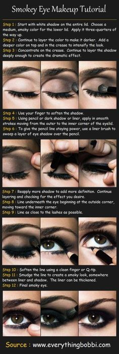Smokey Eyes Tutorial. easy step by step smokey eye makeup